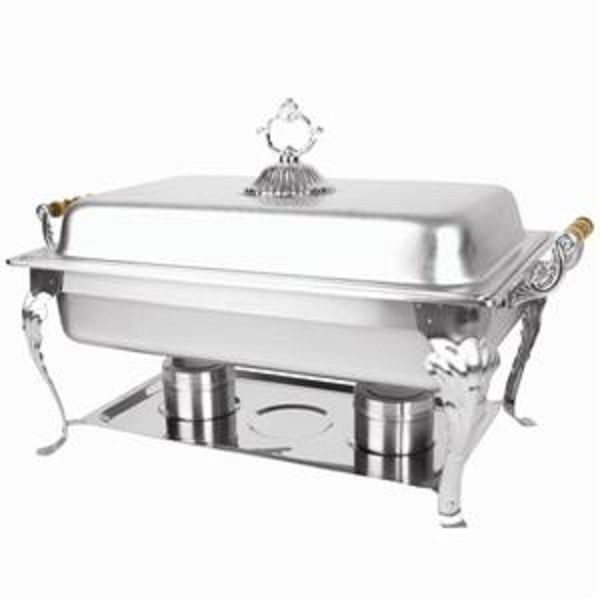 Thunder Group SLRCF8532 Full Size Square Deluxe Chafer 8 Qt.