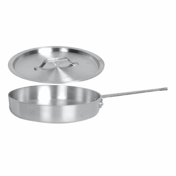 Thunder Group SLSAP050 Stainless Steel Saute Pan with Cover 5 Qt.