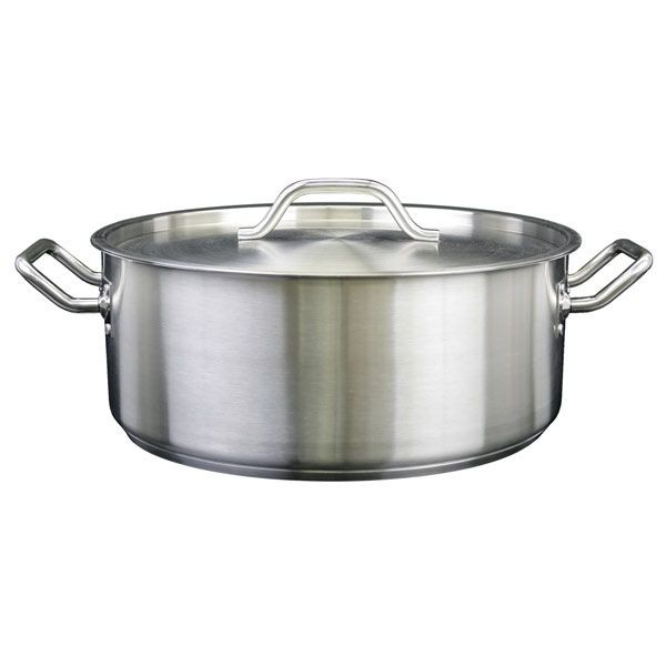 Thunder Group SLSBP030 Stainless Steel Brazier with Cover 30 Qt.