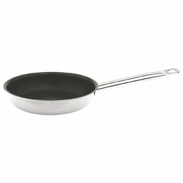 Thunder Group SLSFP109 Stainless Steel Fry Pan with Quantum II Coating 9-1/2""