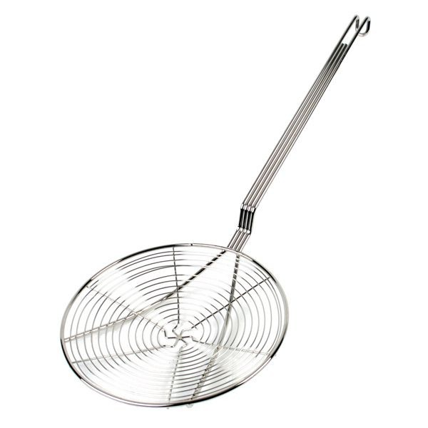 "Thunder Group SLSKS009 Nickle-Plated Spiral Wire Skimmer 9"" x 22"" - 1 doz"