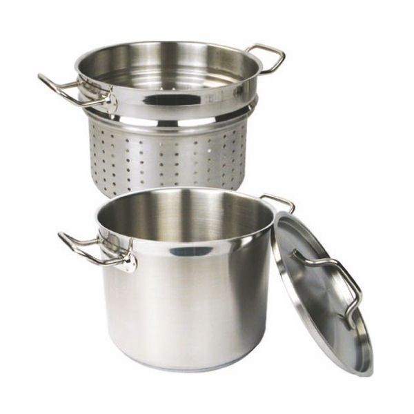 Thunder Group SLSPC012 Stainless Steel Pasta Cooker with Cover 12 Qt.