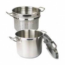 Thunder Group SLSPC020 Stainless Steel Pasta Cooker with Cover 20 Qt.