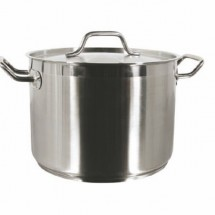 Thunder Group SLSPS012 Stainless Steel Stock Pot with Cover 12 Qt.
