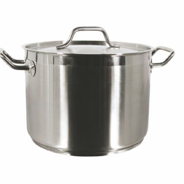 Thunder Group SLSPS032 Stainless Steel Stock Pot with Cover 32 Qt.