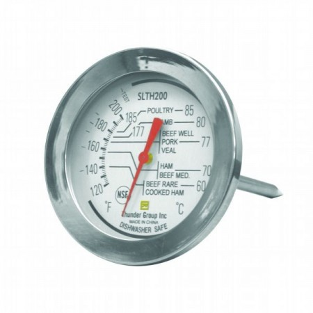 Thunder Group SLTH200 Dial Meat Thermometer 120° - 200°F - 1 doz