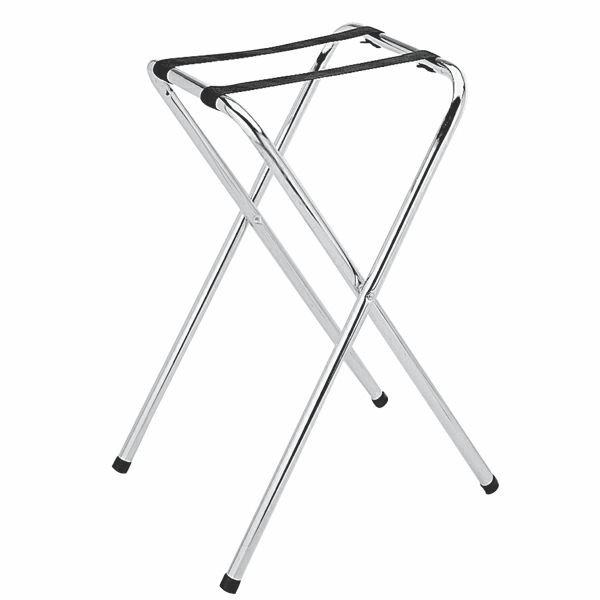 Thunder Group SLTS001 Folding Chrome Plated Tray Stand