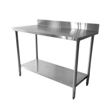 "Thunder Group SLWT42448F4 Worktable With Backsplash 24"" x 48"" x 35"""