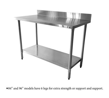 Thunder Group SLWT42460F4 Stainless Steel Work Table with 4