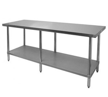 """Thunder Group SLWT42484F Flat Top Worktable 24"""" x 84"""" x 35"""""""