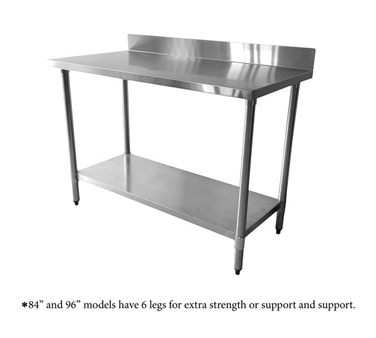 Thunder Group SLWT43072F4 Stainless Steel Work Table, 30