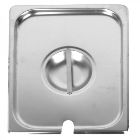 Thunder Group STPA7120CS Half Size Notched Steam Table Pan Cover - 1 doz