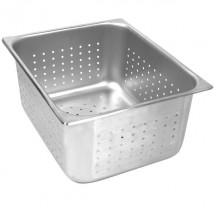 "Thunder Group STPA7126PF Half Size Perforated Steam Pan 6"" - 1/2 doz"