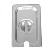 Thunder Group STPA7140CS Quarter Size Notched Steam Pan Cover - 1 doz
