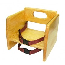 Thunder Group WDTHBS018 Natural Wood Stacking Booster Seat - 1/2 doz