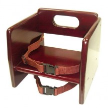 Thunder Group WDTHBS020 Mahogany Wood Stacking Booster Seat - 1/2 doz