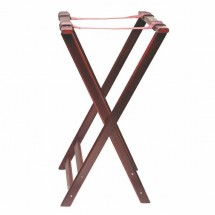 Thunder Group WDTHTS032 Mahogany Double Bar Wood Tray Stand