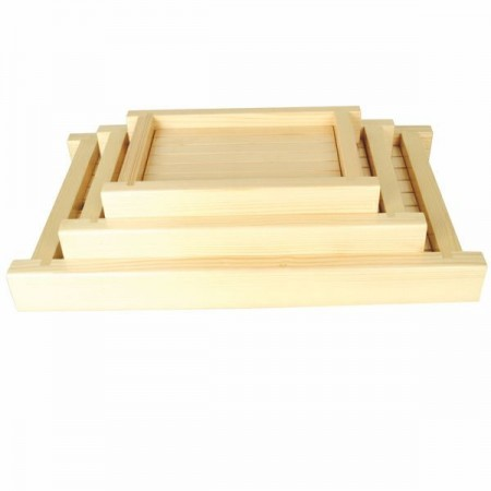 Thunder Group Y-35 Medium Shiraki Wood Sushi Serving Tray
