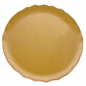 "Thunder Group RF1010G Round Gold Pearl Dinner Plate 10-1/2"" - 1/2 doz"