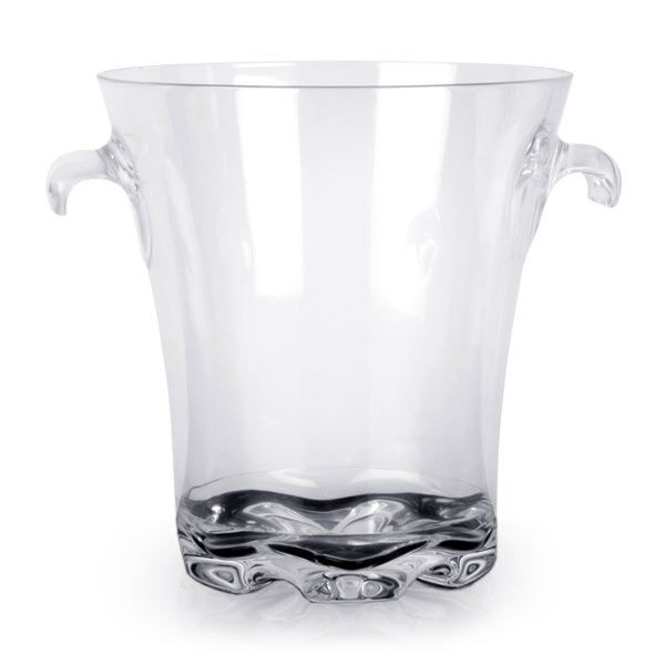 Thunder Group PLTHBK040C Polycarbonate Ice Bucket With Easy Grip Handles 4 Qt.