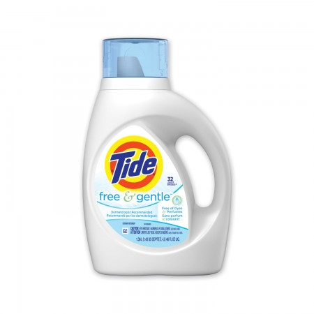 Tide Free and Gentle Laundry Detergent, 46 oz. 6/Carton
