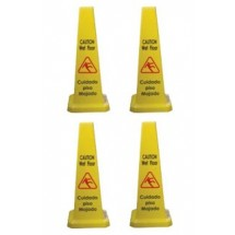 "TigerChef Cone Shape Caution Sign 27"" (4 Pack)"