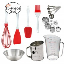 TigerChef  Professional 15-Piece Silicone Baking Set
