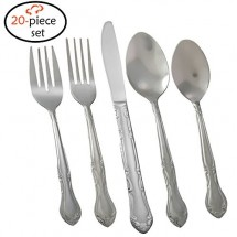 TigerChef Florentine 18/0, 20-Piece Flatware Set, Service for 4