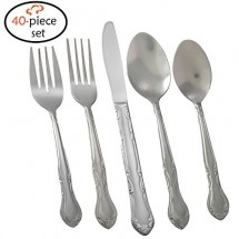TigerChef Florentine 18/0, 40-Piece Flatware Set, Service for 8