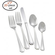 TigerChef Royalty 18/8, 20-Piece Flatware Set, Service for 4