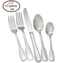 TigerChef Coventry 18/8, 40-Piece Flatware Set, Service for 8