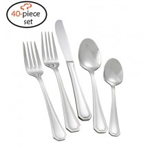 TigerChef Royalty 18/8, 40-Piece Flatware Set, Service for 8