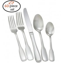 TigerChef Coventry 18/8, 60-Piece Flatware Set, Service for 12