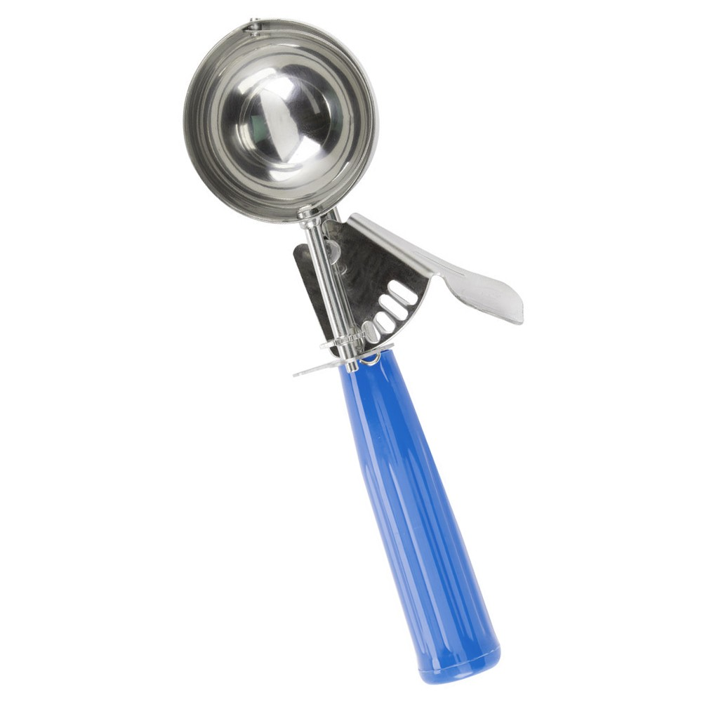 TigerChef Stainless Steel Disher with Blue Handle 2 oz.