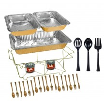 TigerChef 33-Piece Gold Chafing Dish Food Warmer Buffet Set