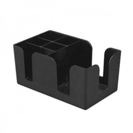 TigerChef 6-Compartment Plastic Bar Caddy