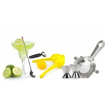 TigerChef 6 Piece Stainless Steel Bar Tool Set with Citrus Garnishes