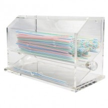 TigerChef Acrylic Straw Dispenser with 100 Straws