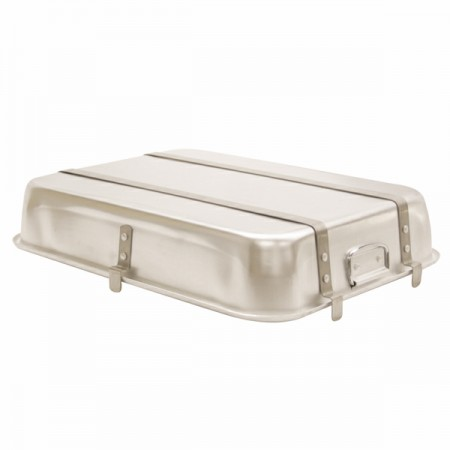 """TigerChef Aluminum Double Roaster with Strap and Lugs 24"""" x 18"""" x 4-1/2"""""""