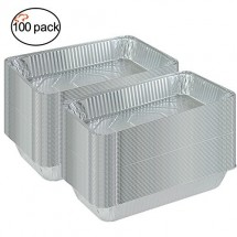 TigerChef Full Size Aluminum Foil Steam Table Pans and Lids - 100/Case
