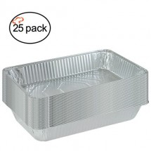 TigerChef-Aluminum-Foil-Pans-and-Optional-Lids---25-Pans-Lids--Full-and-Half-Size