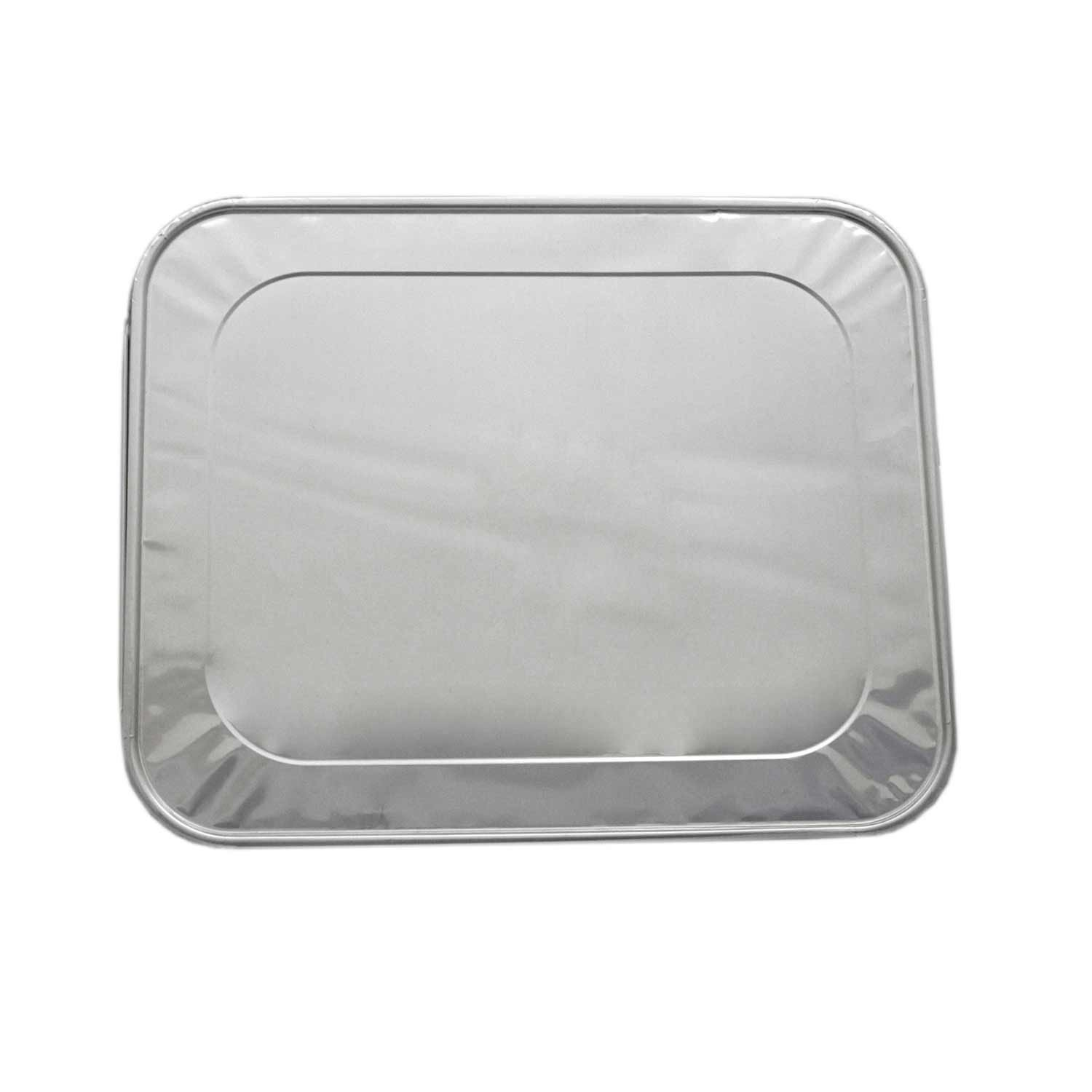 TigerChef Aluminum Half Size Foil Lids For Foil Pans - 5 pcs