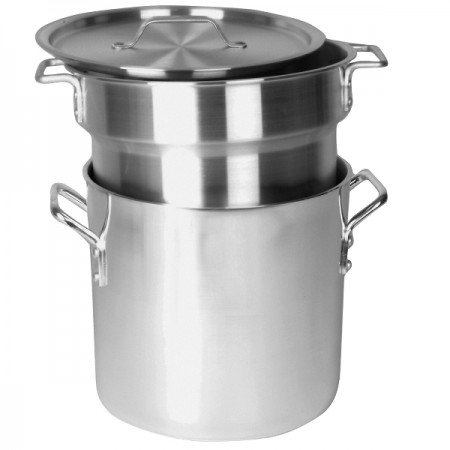 TigerChef Aluminum Heavy Duty Double Boiler Set 16 Qt.