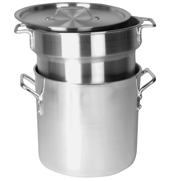 TigerChef Aluminum Heavy Duty Double Boiler 12 Qt.