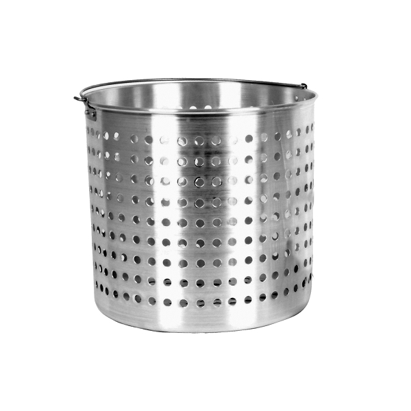 TigerChef Aluminum Stock Pot Steamer Basket 32 Qt.