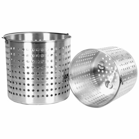 TigerChef Aluminum Stock Pot Steamer Basket 20 Qt.