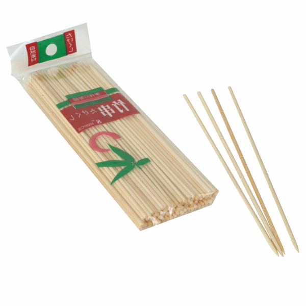 "TigerChef Bamboo Skewers 12"", 100/Bag"