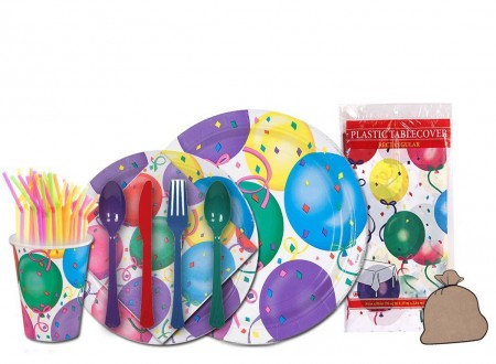 TigerChef Birthday Party Supplies Set - Service for 24