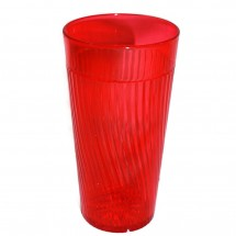TigerChef Break-Resistant Plastic Starburst Pattern Tumbler 20 oz. - 6 pcs