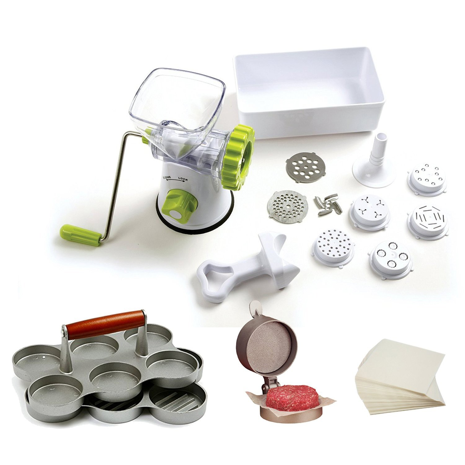TigerChef White Complete Pasta / Burger Maker Supplies Set